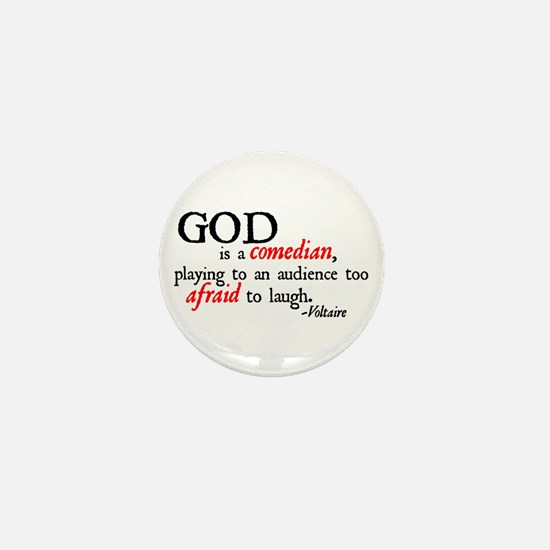 God is a Comedian Mini Button