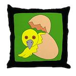 The Bird is Hatching Throw Pillow