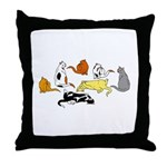 Cats Of Many Colors Throw Pillow
