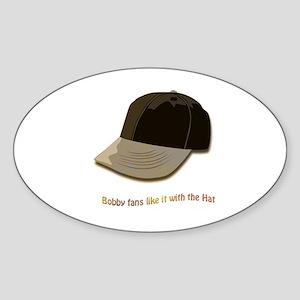 Bobby's Hat Oval Sticker
