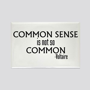 Common Sense Not So Common Rectangle Magnet
