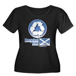 Recycled Scot Women's Plus Size Scoop Neck Dark T-