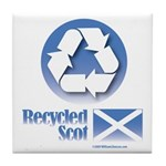 Recycled Scot Tile Coaster