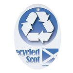 Recycled Scot Oval Ornament