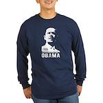 OBAMA 2008 - Stencil Long Sleeve Dark T-Shirt