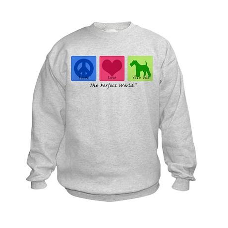 Peace Love Wire Fox Kids Sweatshirt