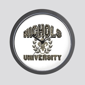 Nichols Last Name University Wall Clock