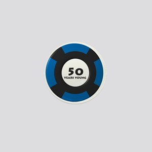50 Years Young Mini Button