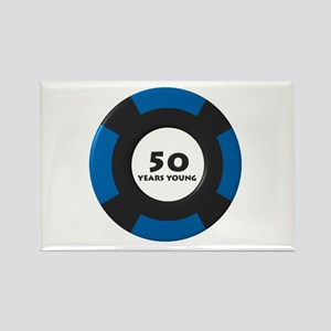 50 Years Young Rectangle Magnet