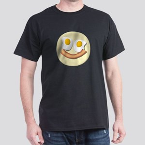 Eggs And Bacon Smiley Dark T-Shirt