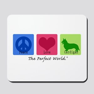 Peace Love Cardigan Mousepad