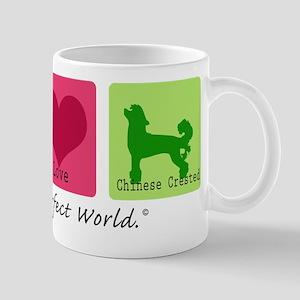 Peace Love Chinese Crested Mug