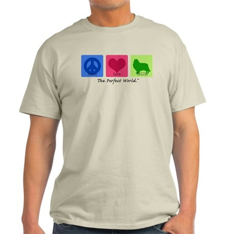 Peace Love Collie Light T-Shirt