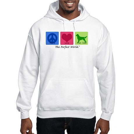 Peace Love Flat Coat Hooded Sweatshirt
