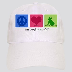 Peace Love French Bulldog Cap