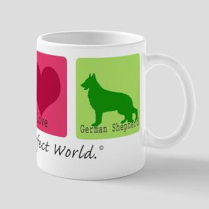 Peace Love German Shepherd Mug