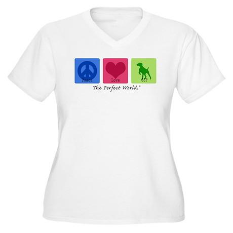 Peace Love GSP Women's Plus Size V-Neck T-Shirt
