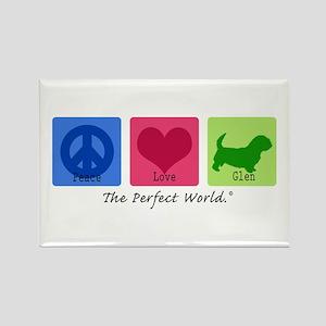 Peace Love Glen Rectangle Magnet