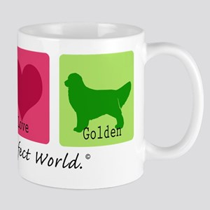 Peace Love Golden Mug