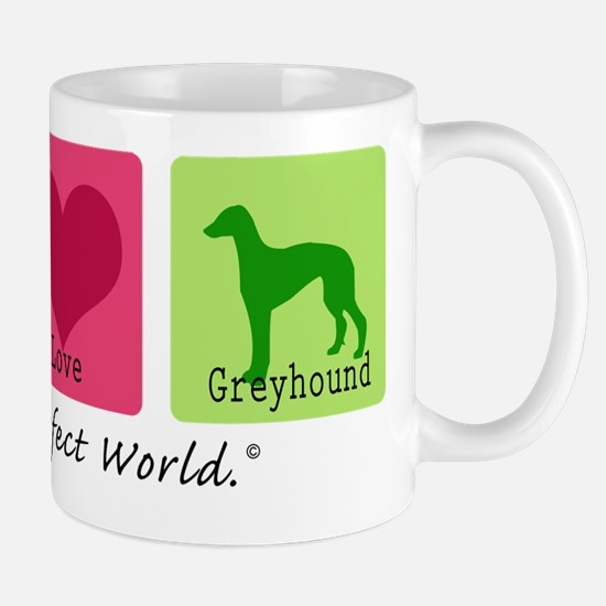 Peace Love Greyhound Mug