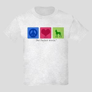 Peace Love Min Pin Kids Light T-Shirt