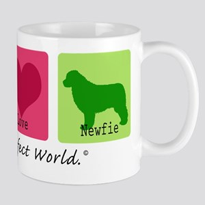 Peace Love Newfie Mug