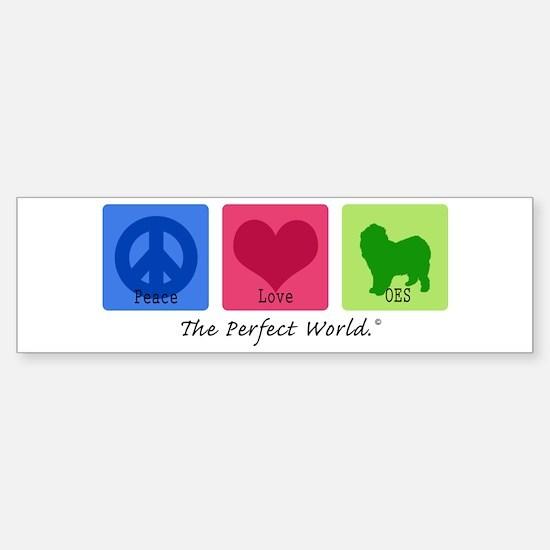 Peace Love OES Bumper Bumper Bumper Sticker