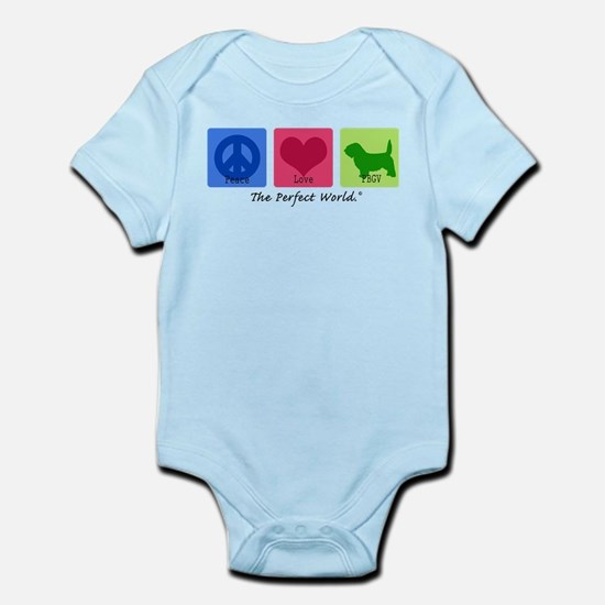 Peace Love PBGV Infant Bodysuit