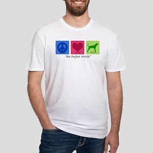 Peace Love Plott Fitted T-Shirt
