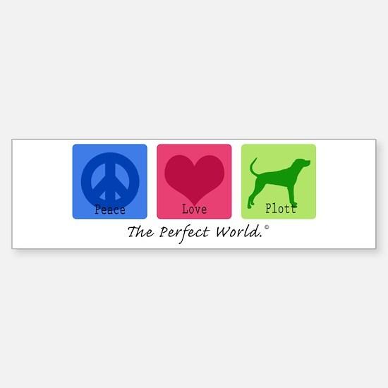 Peace Love Plott Bumper Bumper Bumper Sticker