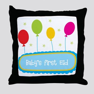 Baby's First Eid Throw Pillow