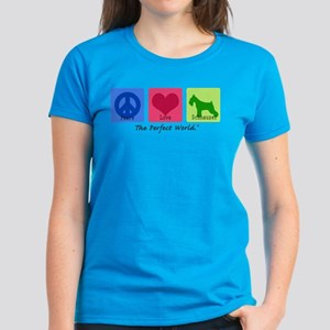 Peace Love Schnauzer Women's Dark T-Shirt