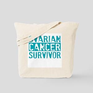 Proud Ovarian Cancer Survivor Tote Bag