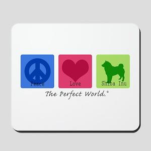 Peace Love Shiba Inu Mousepad