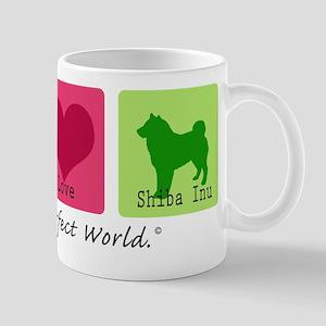 Peace Love Shiba Inu Mug