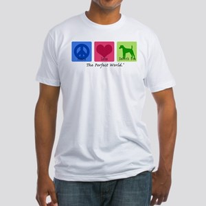 Peace Love Smooth Fox Fitted T-Shirt