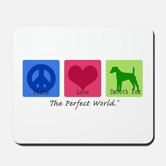 Peace Love Smooth Fox Mousepad