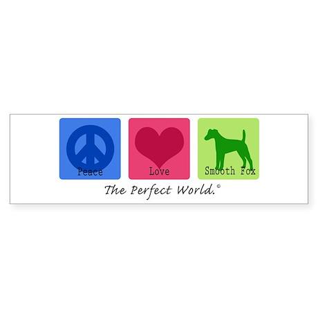 Peace Love Smooth Fox Bumper Sticker