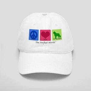 Peace Love St Bernard Cap