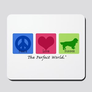 Peace Love Sussex Mousepad