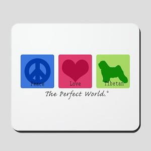 Peace Love Tibetan Mousepad