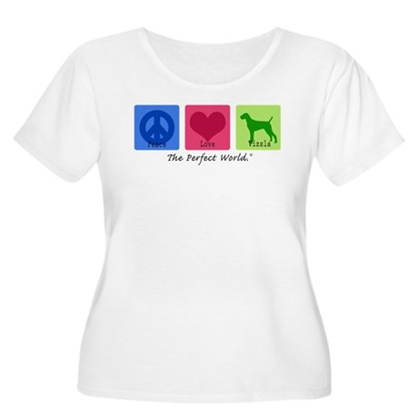 Peace Love Vizsla Women's Plus Size Scoop Neck T-S