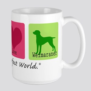 Peace Love Weimaraner Large Mug