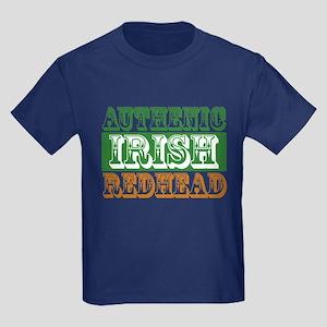 Authentic Irish Redhead Kids Dark T-Shirt