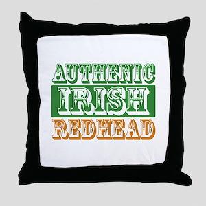Authentic Irish Redhead Throw Pillow