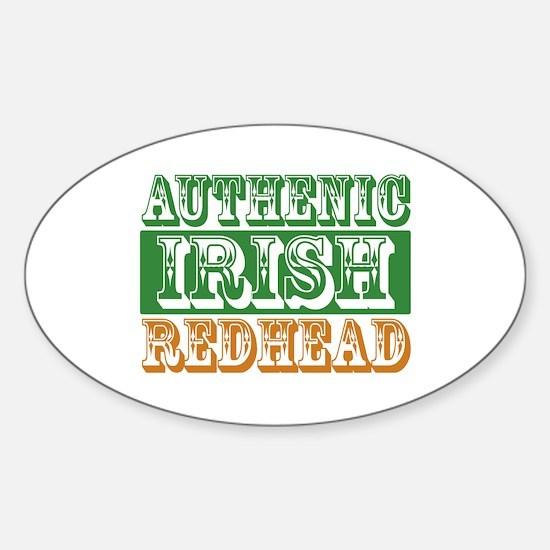 Authentic Irish Redhead Oval Decal