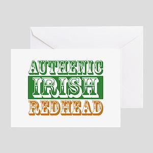 Authentic Irish Redhead Greeting Card