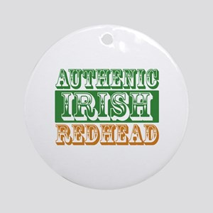 Authentic Irish Redhead Ornament (Round)