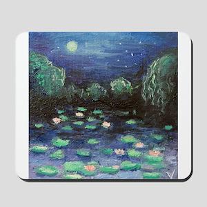 Moonlight Waterlilies Mousepad
