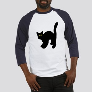 black tomcat cat logo Baseball Jersey